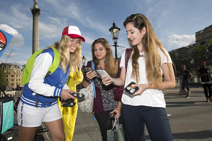 Pokémon Go trainers were treated to a surprise delivery of sushi yesterday evening. Restaurant food delivery service Deliveroo kept the gamers sustained as they took to the capital's hotspots on the hunt for the new game's elusive characters.