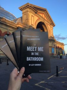 StreetPR Faber and Faber 'Meet Me in the Bathroom' chapter sampling at Alexandra Palace Interpol gig little