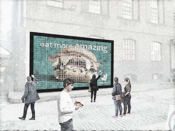 Deliveroo billboard copy