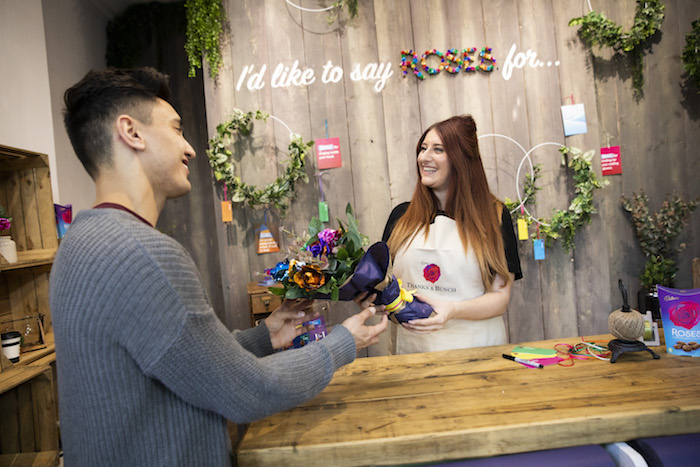 Cadbury Roses opens 'Thanks A Bunch' - a florist with a twist, where the Roses on offer are made entirely from Cadbury Roses chocolate. Visitors can pop down to 13 Soho Square from 10th - 13th October (12pm-6pm) to pick up either a bouquet or single stem Cadbury Roses 'Rose'. Completely free of charge, visitors simply need to provide their message of thanks to retrieve their gift. The shop is launching to support the 'Another Way To Say Thank You' Cadbury Roses campaign.