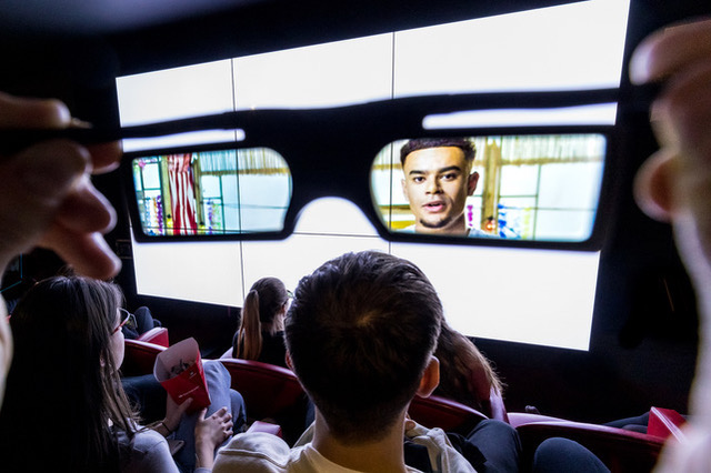 Santander launches 'For Your Eyes Alone' an invisible cinema experience, where the films shown are invisible to the naked eye and can only be seen when wearing a pair of polarised glasses to educate under 25s the importance of keeping personal details secret not sharing them with anyone.