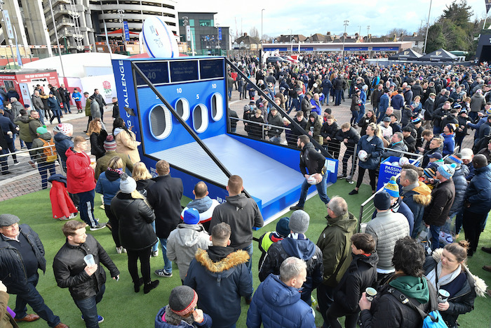 10.02.19 Twickenham Neptunus portable structures at the Six Nations Tournament at Twickenham on Sunday 10th Feb 2019