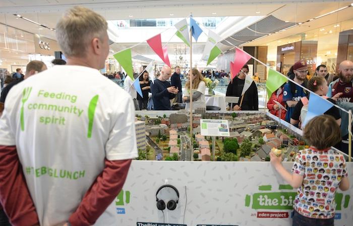 Saturday 30th March 2019 Westfield Shopping Centre, Stratford, London The Big Lunch event. Consent forms signed by all staff in Big Lunch T-shirts. Members of the public pictured have NOT signed consent forms.