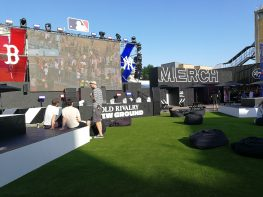 The fanzone gets ready for the fans
