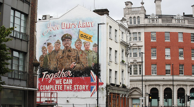 UKTV unveil huge Dad's Army mural, London, 19th August 2019