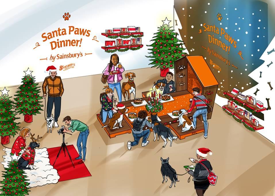 santa paws dogs sainsburys