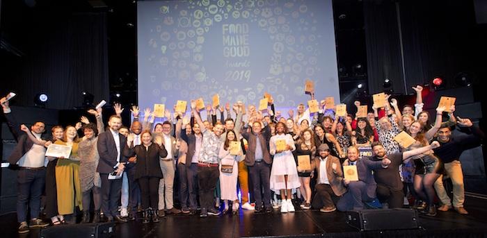 The winners of the Food Made Good Awards 2019. Photo - Steve Bainbridge