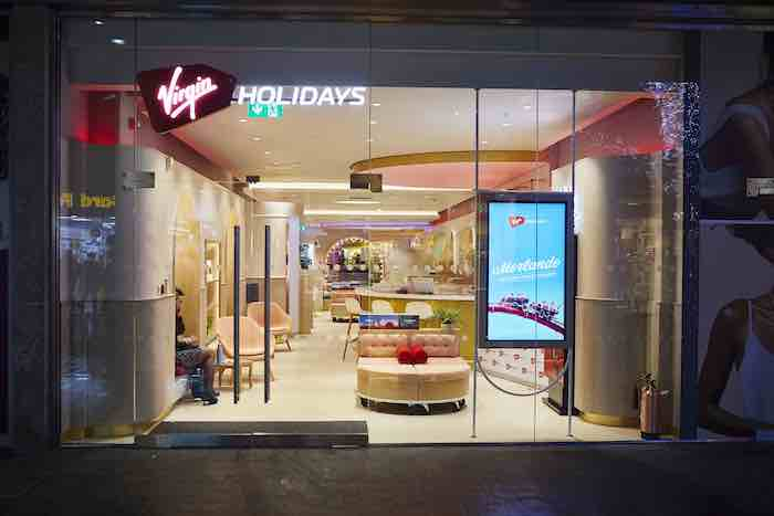 Virgin Holidays brand new V Room store in the Liverpool ONE shopping centre launch party on Tuesday 10th December 2019. The new store includes innovative design features such as a prosecco bar, allowing customers to sip a drink as they peruse their holiday options, along with a dedicated kids area, to keep younger travellers entertained.