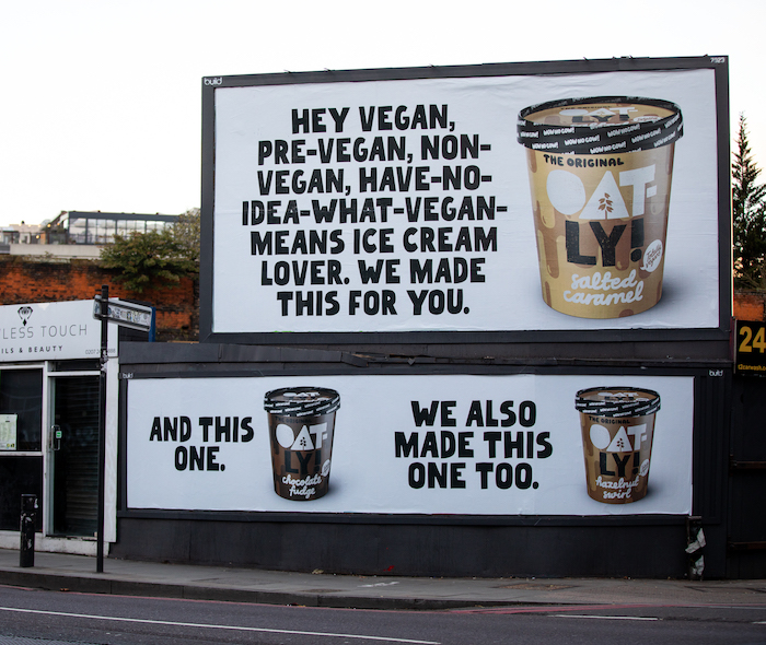 Oatly billboards in Shoreditch