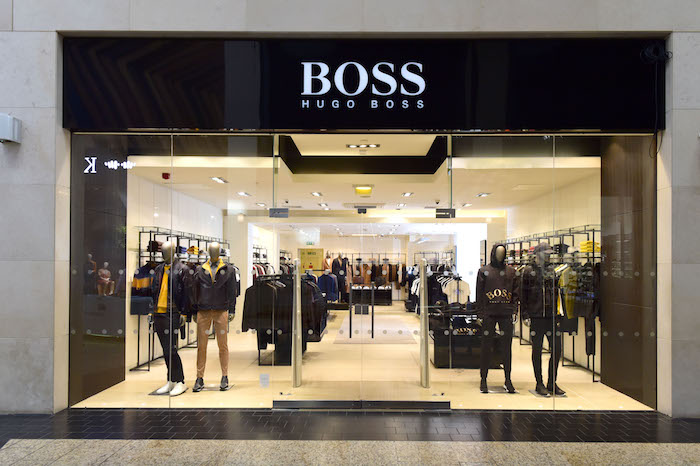 New Hugo Boss store at Silverburn shopping centre. Copyright photo by Paul Chappells, 07774730898 www.paulphoto.co.uk