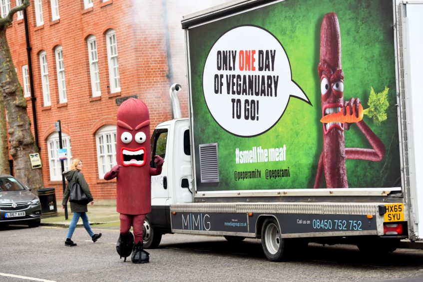 FREE TO USE IMAGES Pictured:   Animal and the Peperami van around London. Contact:   Spider PR PR Handout - Free to use